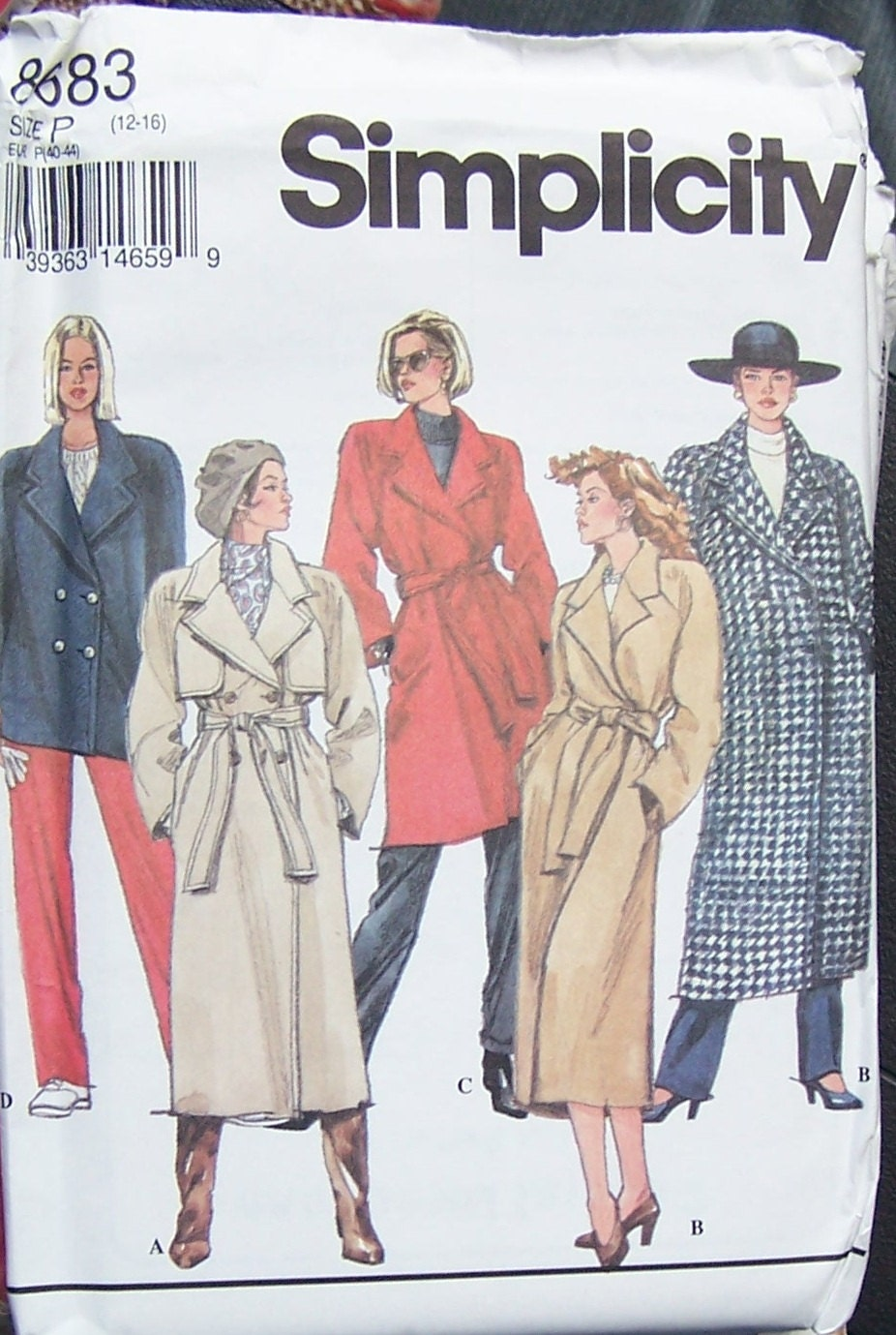 Trench Coat Sewing Pattern 103