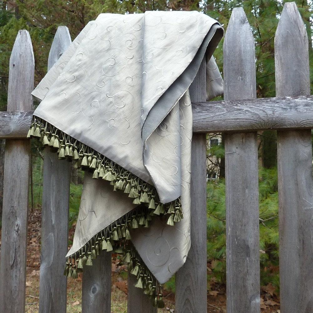 "Hannah's Favorite Blanket - ""Sage Swirl"" - salvaged fabric, handmade"