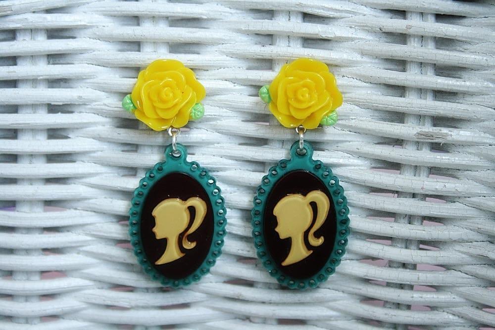 Silhouette barbie earrings