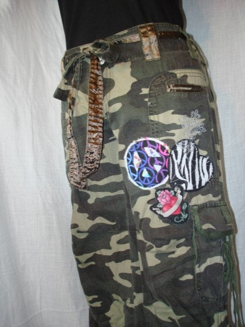 Rag patch Peace Heart Camo Crop