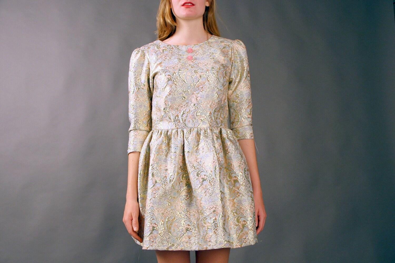 Sarah Leora's Princess Dress with rose buttons