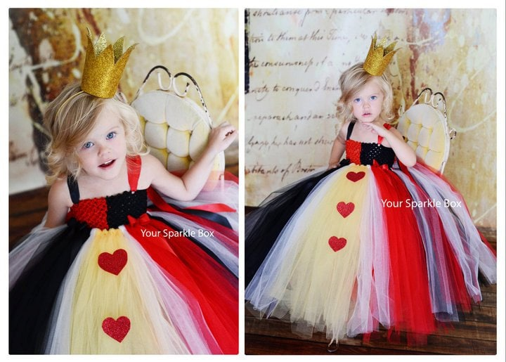 Queen of Hearts Costume Tutu Dress nb-4t PREORDER - only 5 left