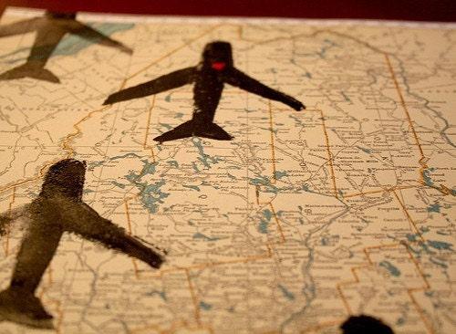 atlast art with plane