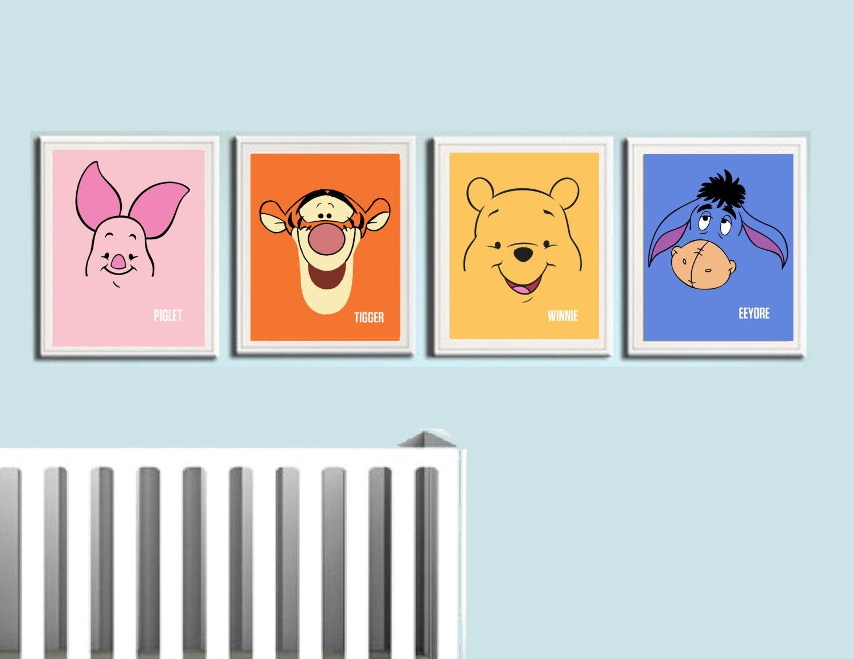 Winnie The Pooh Nursery Art Prints Kids Wall Art