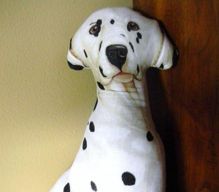 Dalmation Dog Pillow Black White Spots Dottie - Treasury - WillowTreasures