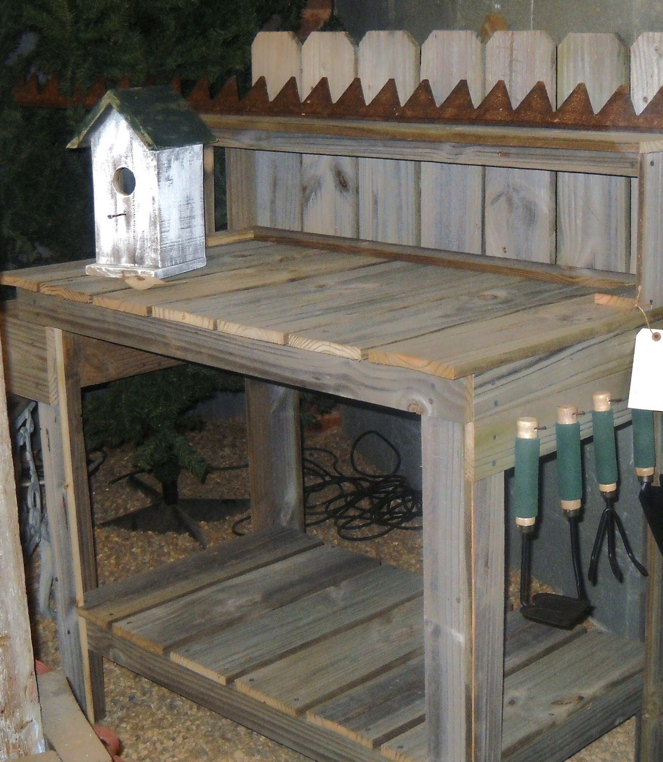 Potting Table Reclaimed Wood Potting Table By Southernbarndesigns