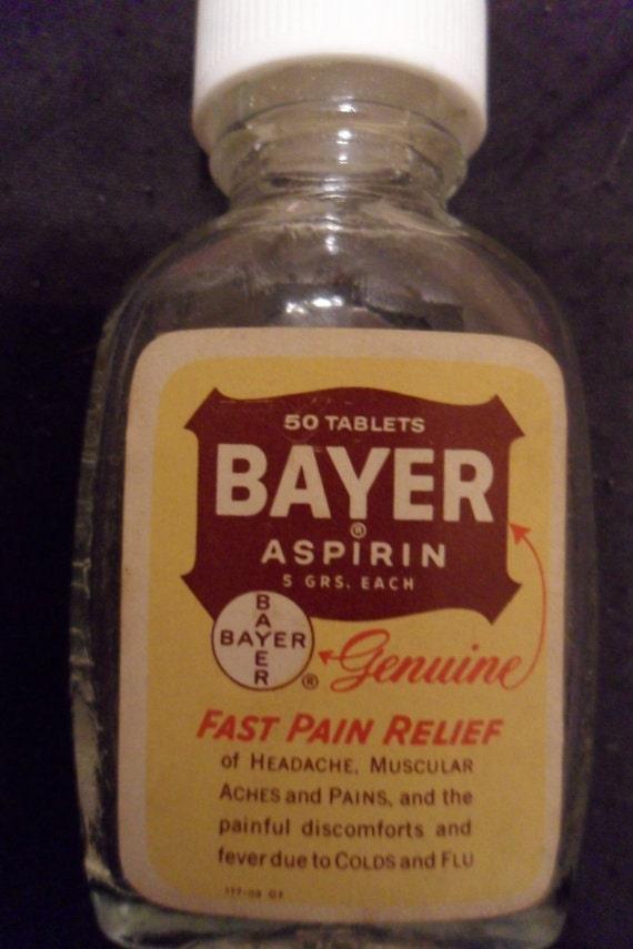 vintage bayer aspirin bottle eBay