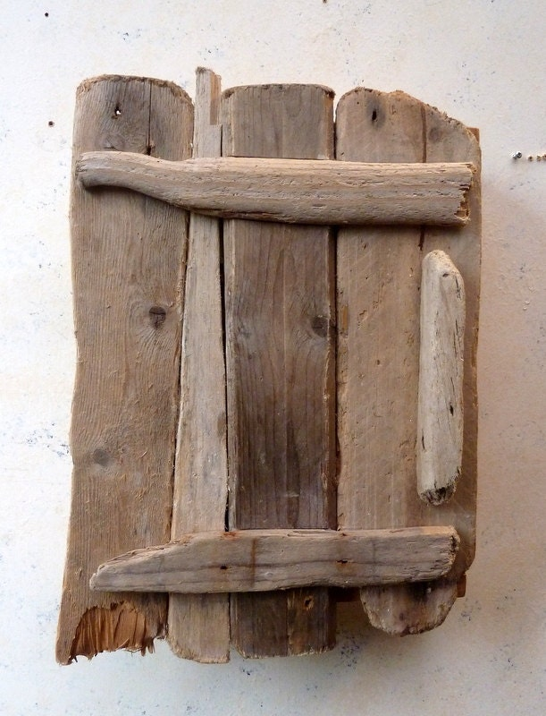 Dorset Driftwood Cupboard Bathroom Robust Hand Made Shabby Chic 52 x 39 cm
