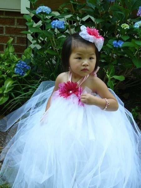 Tutu Dress with Matching Flower Hair Bow