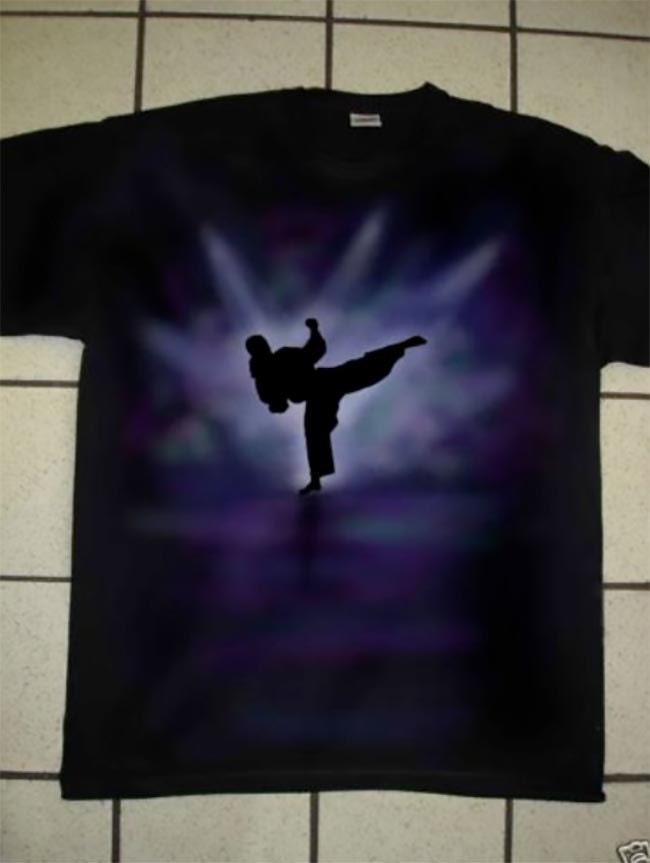 Airbrushed Japanese Karate Tshirt martial art  in all sizes