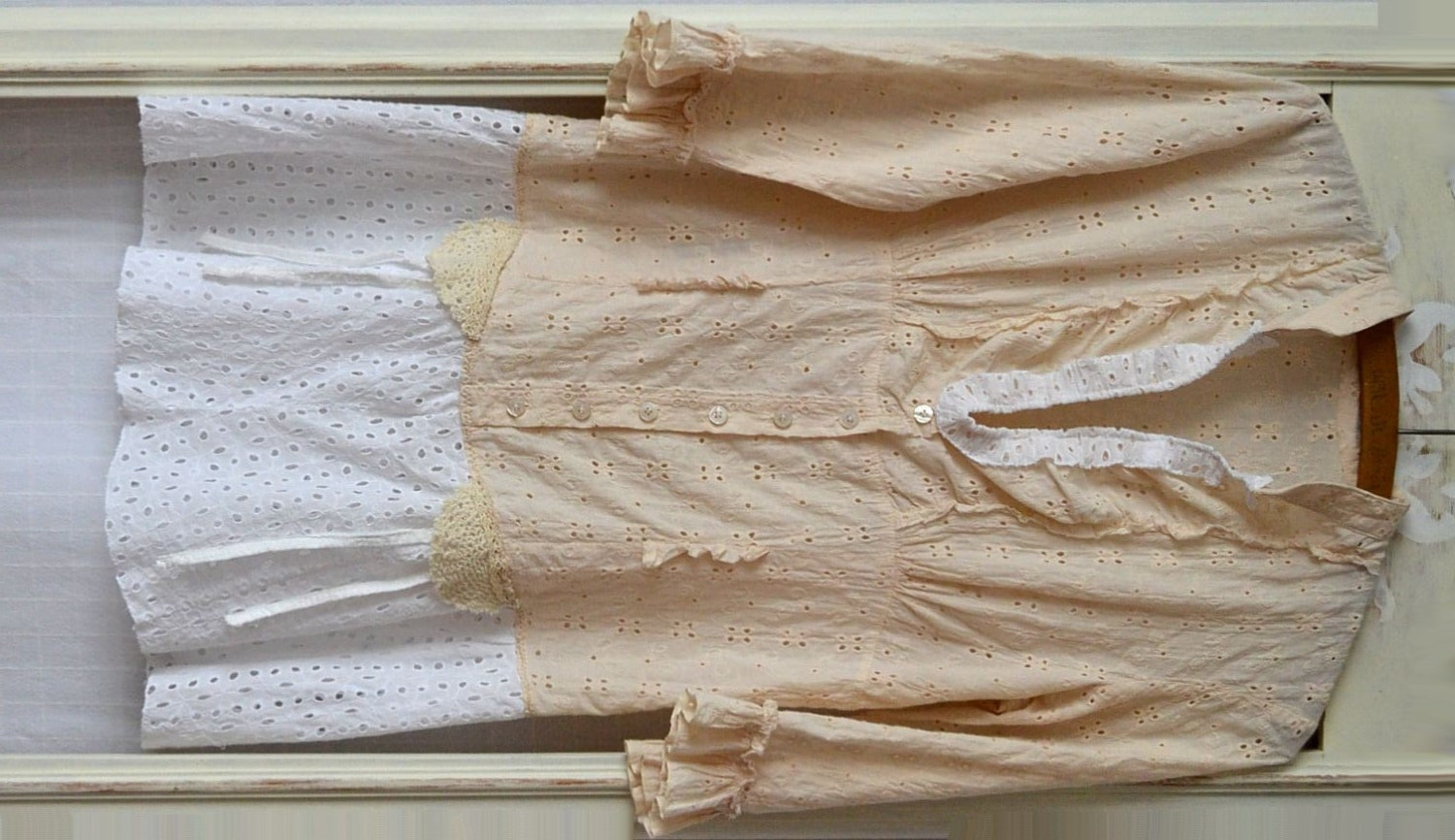 summer dress upcycled clothing vintage shabby by