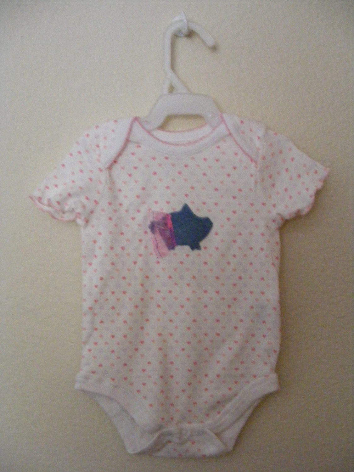 Pretty In Pink Hearted Onesie