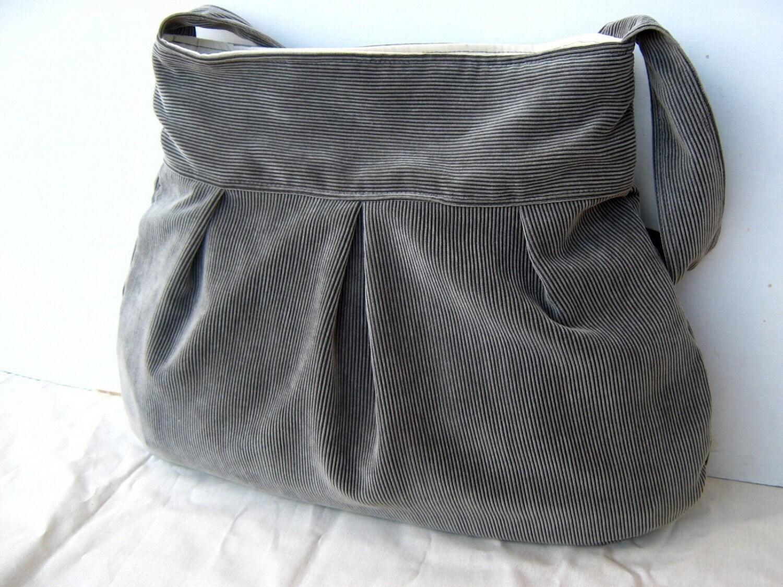 Marigold in Grey --everyday purse--