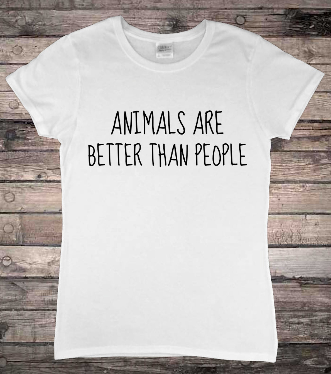 Animals Are Better Than People Animal Lover Veggie TShirt