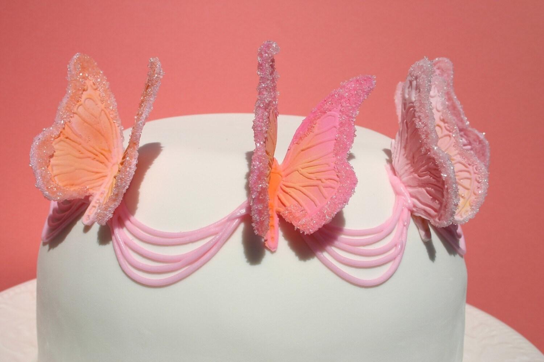 Съедобные украшения Торт Бабочки 10
