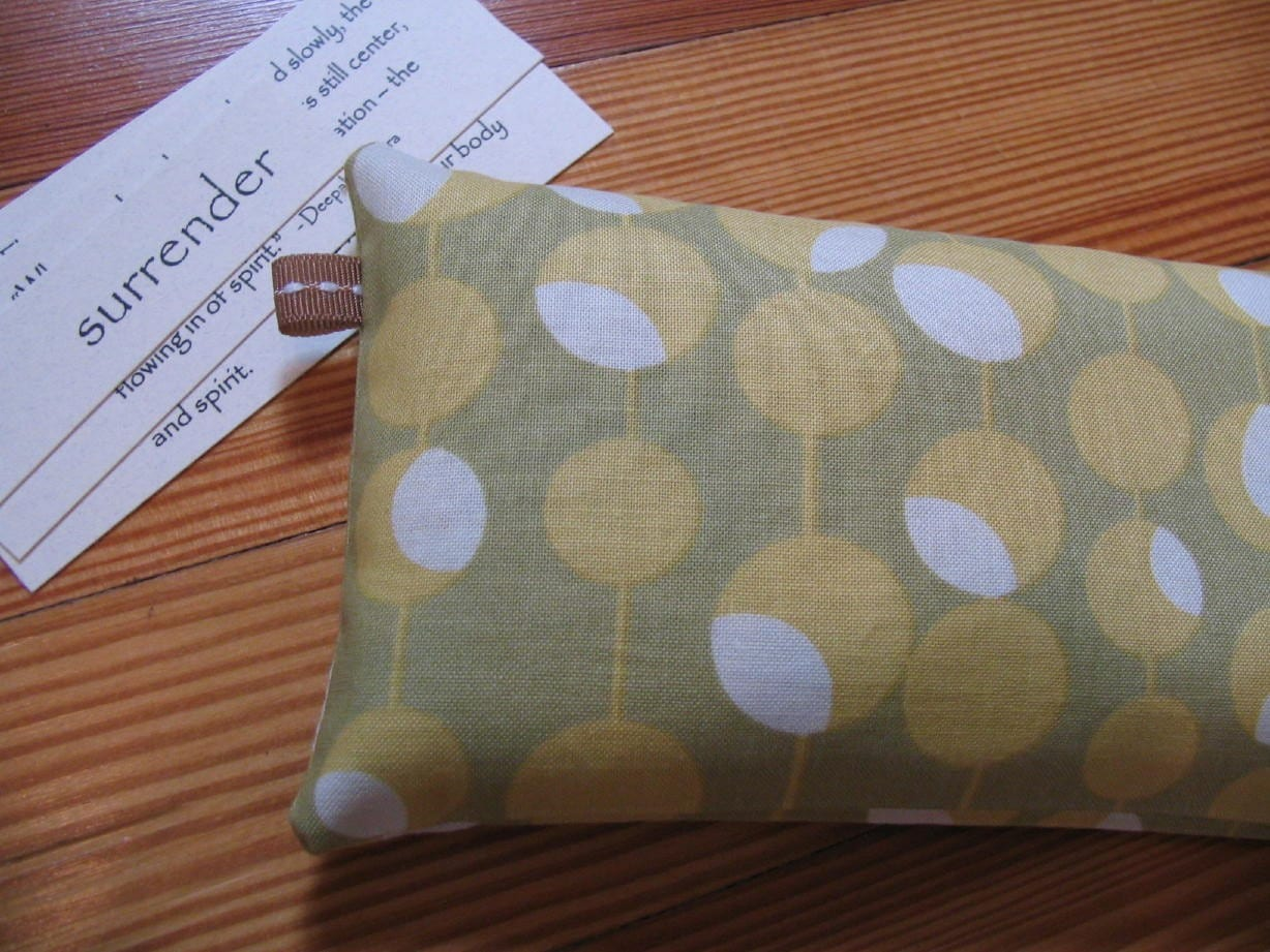 Organic Moss Martini Eye Pillow