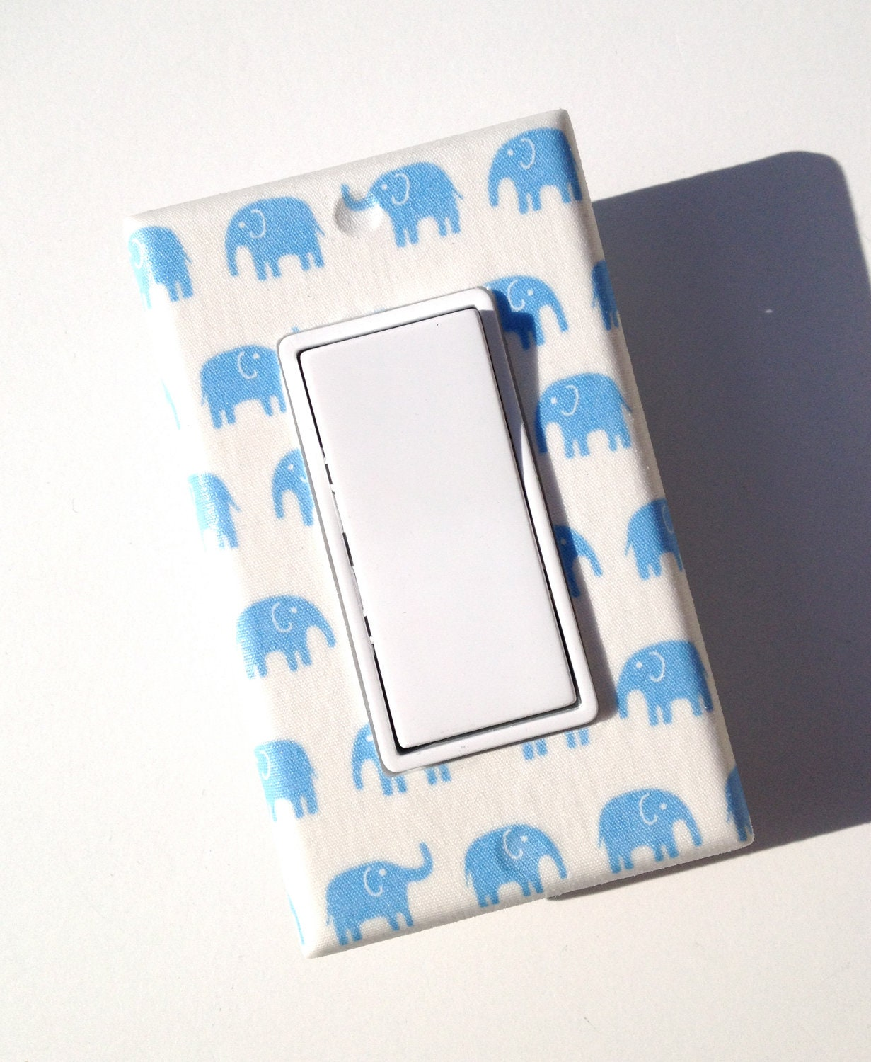 Blue Elephant Rocker Light Switch Plate Cover Baby By