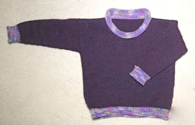 Knitting Pattern Roll Neck Jumper : Childrens Roll-neck Sweater KNITTING PATTERN by RianAnderson