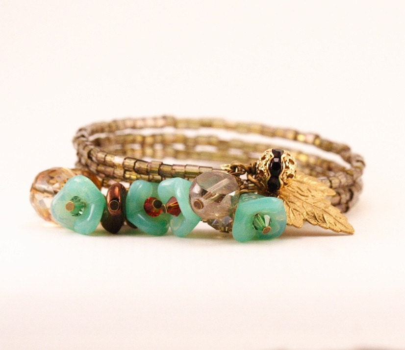 Green Peace Posy Bracelet
