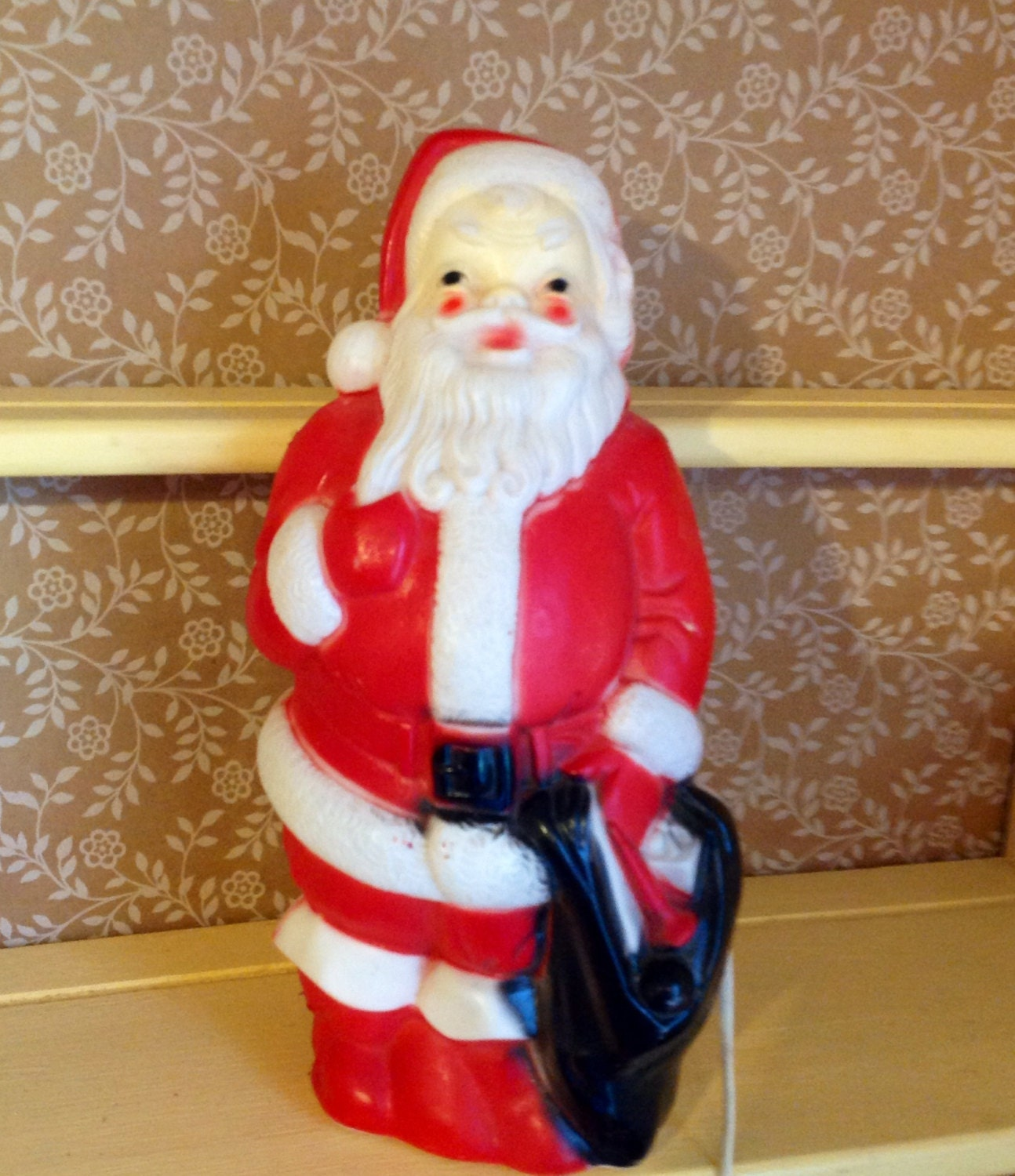 Vintage Empire Plastic Santa Claus Lighted By