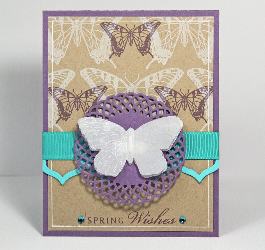 Butterfly spring wishes card