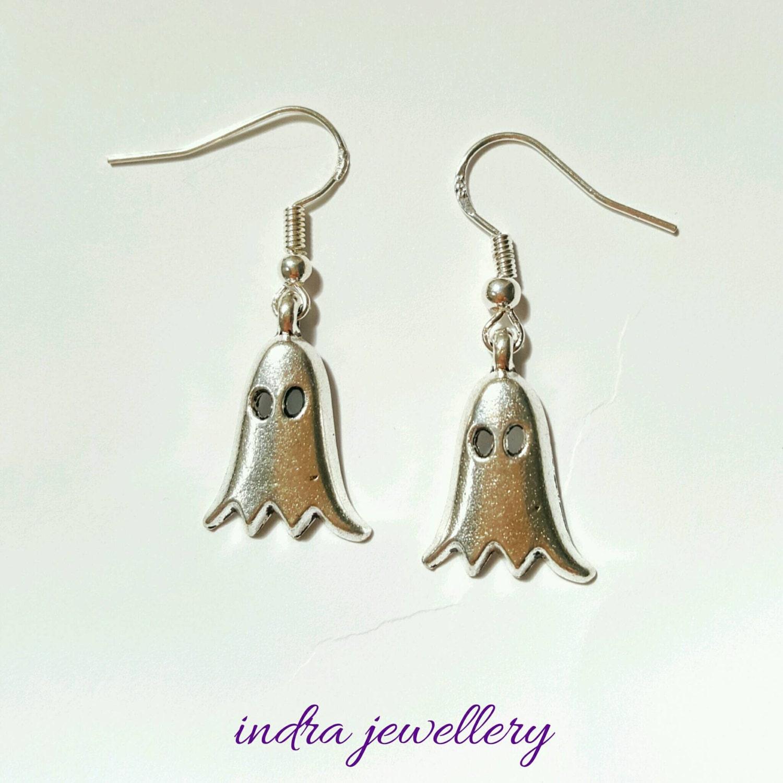 Ghost earrings halloween earrings spooky earrings halloween jewelry ghoul earrings scary earrings fun earrings fun jewelry
