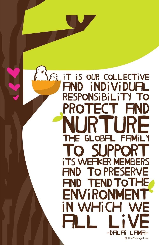 Dalai Lama Birds in a Tree Poster