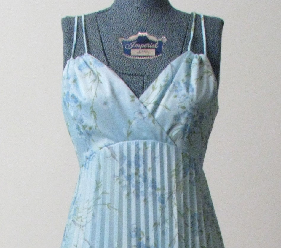 Baby blue maxidress with spaghetti straps