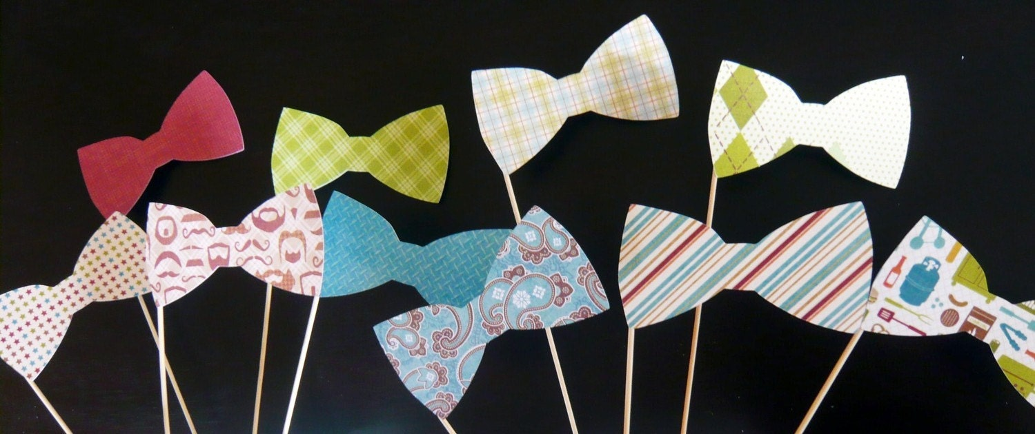 Photobooth Bow Ties - Set of Ten