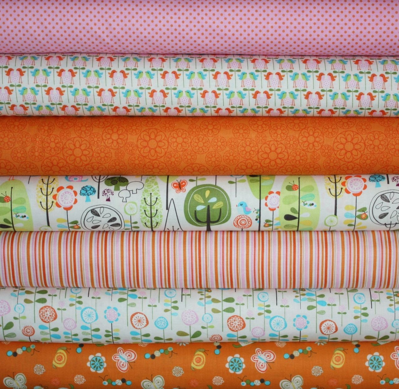 Happier Fabric by Deena Rutter for Riley Blake- Yard Bundle, 7 total