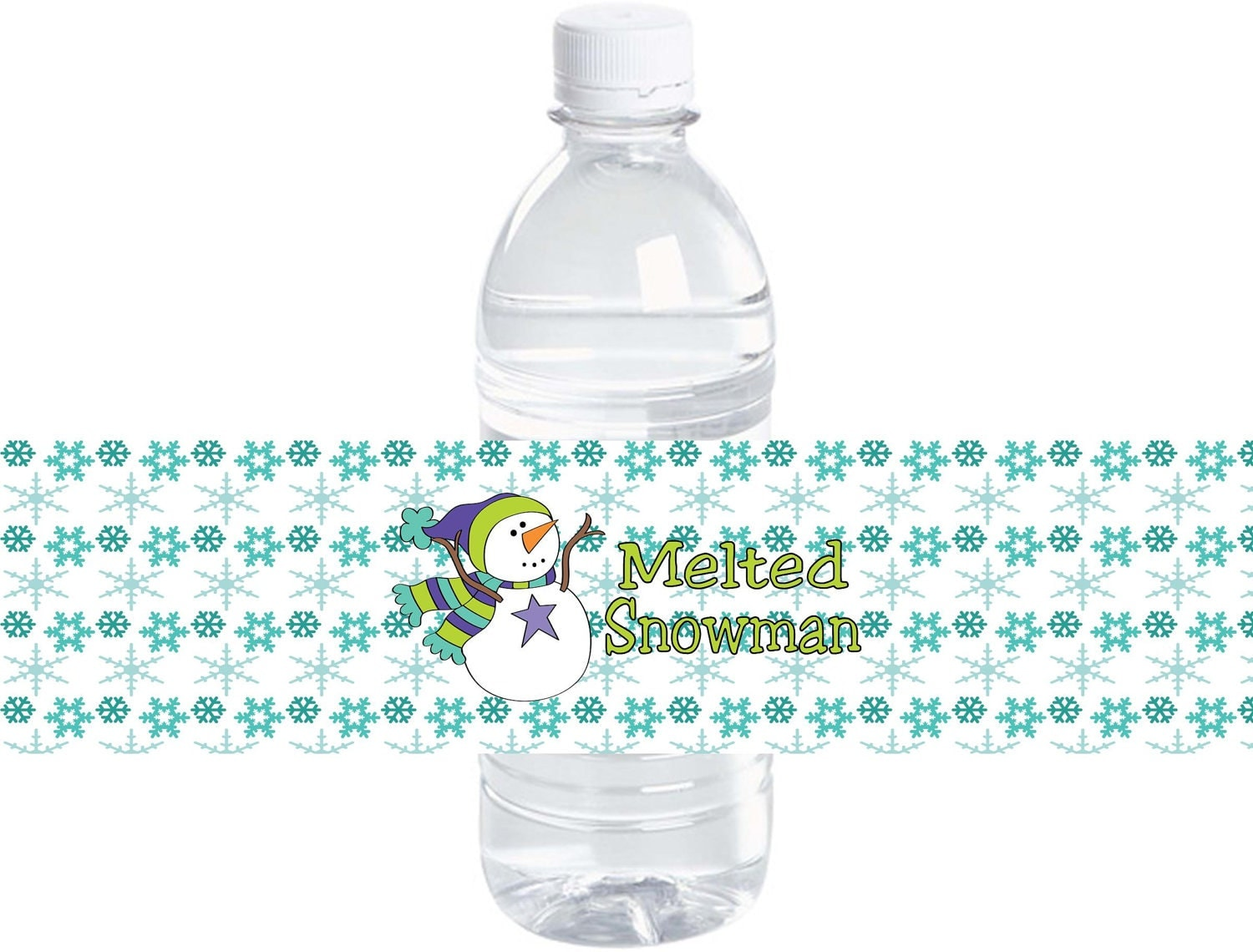 Items similar to melted snowman water bottle labels buy for Buy water bottle labels