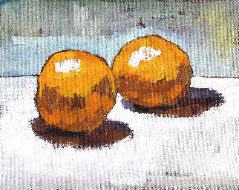 Orange Still Life Painting by Kevin Inman Art