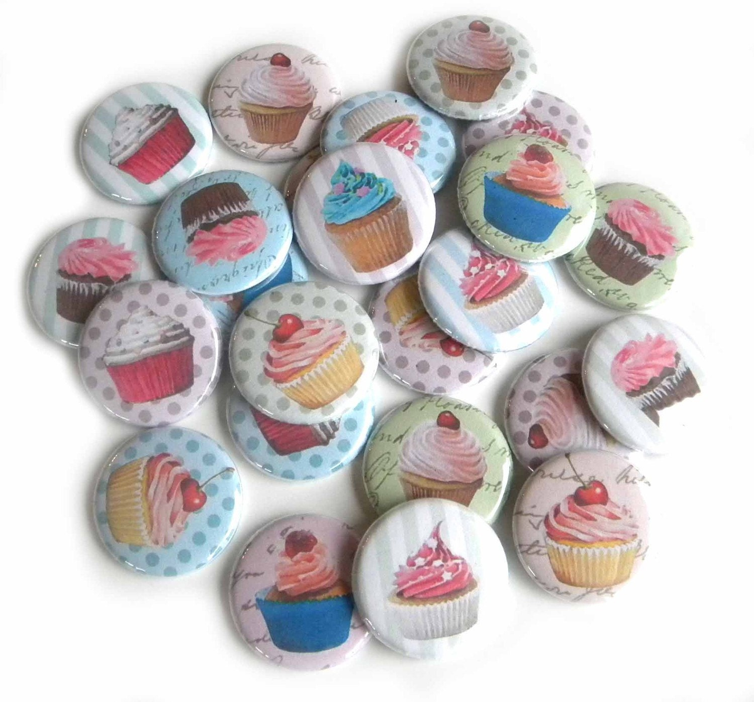 25 Cupcake Flat Back Button