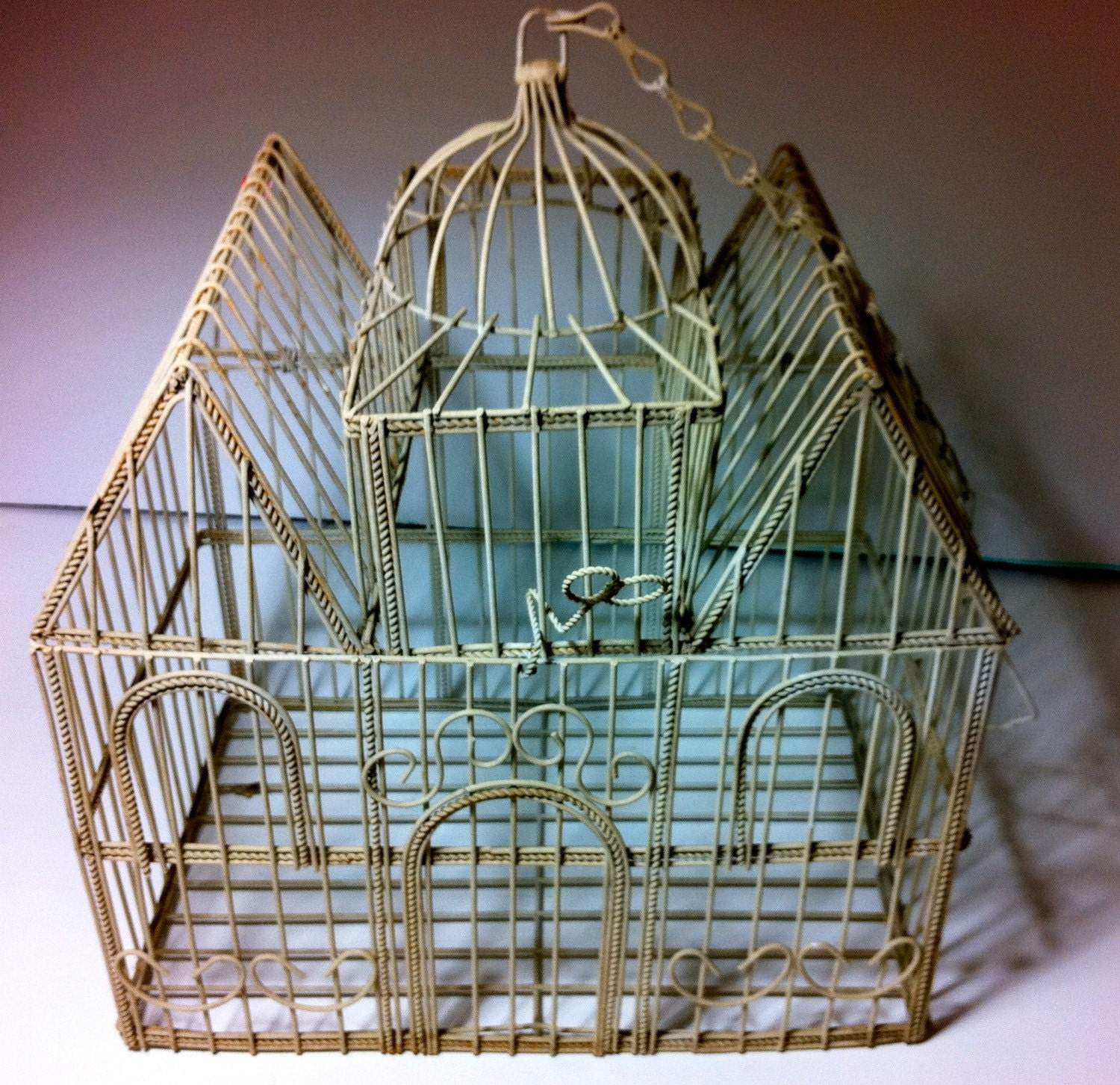 Vintage Hanging Bird Cage for Bird Lovers. Large by ...