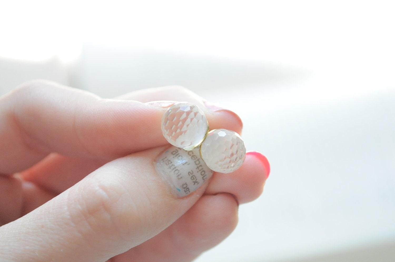 Trust me, I'm sweet-  Creamy crystal ball post earrings