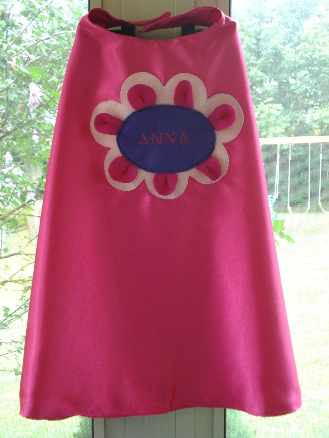 Embroidered Flower Power Princess Cape