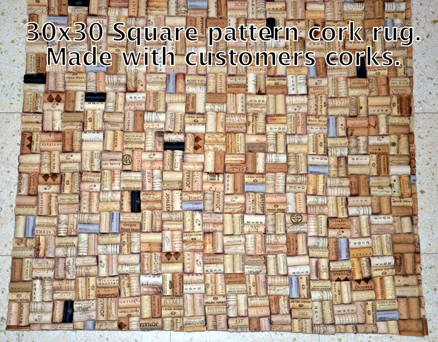 Popular items for bathroom rugs on etsy for Wine cork welcome mat