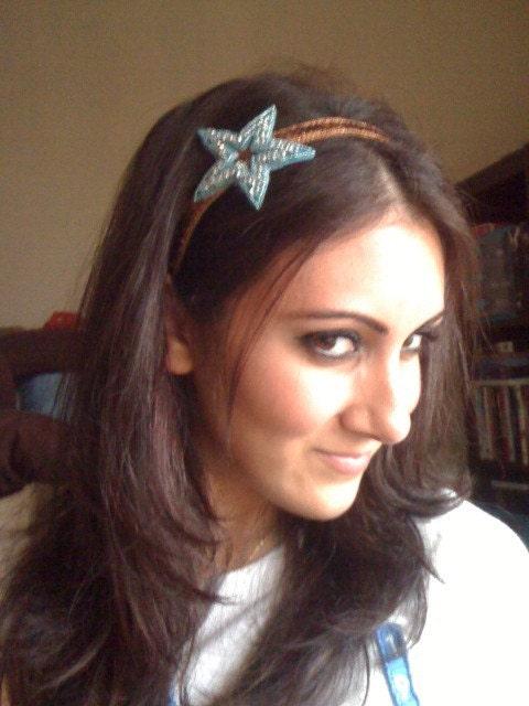 Turquoise/Cinnamon Star Headband