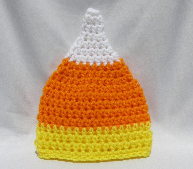 Candy Corn Hat - Ready to Ship - Newborn