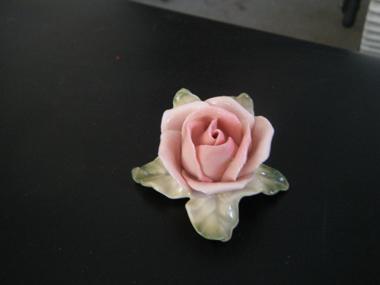 Antique Karl Ens Volkstedt  Porcelain Realistic Figural Pink Roses Germany 1930's - timetravelersantique