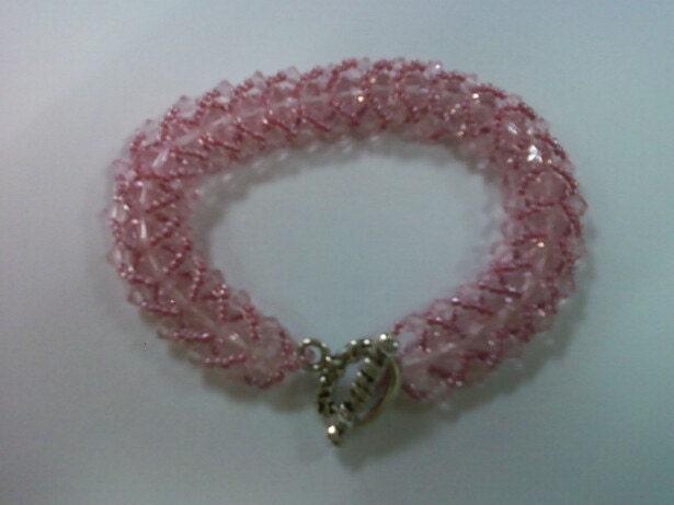 Lt. Rose Herringbone Pattern Bracelet