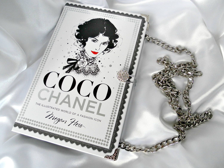 Book Purse Handbag  Coco Chanel  Fashion Book Handbag  Chanel Clutch Bag  Book Cover Handbag  UK Book Purse