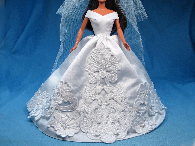 Как сшить барби платье свадебное платье 14
