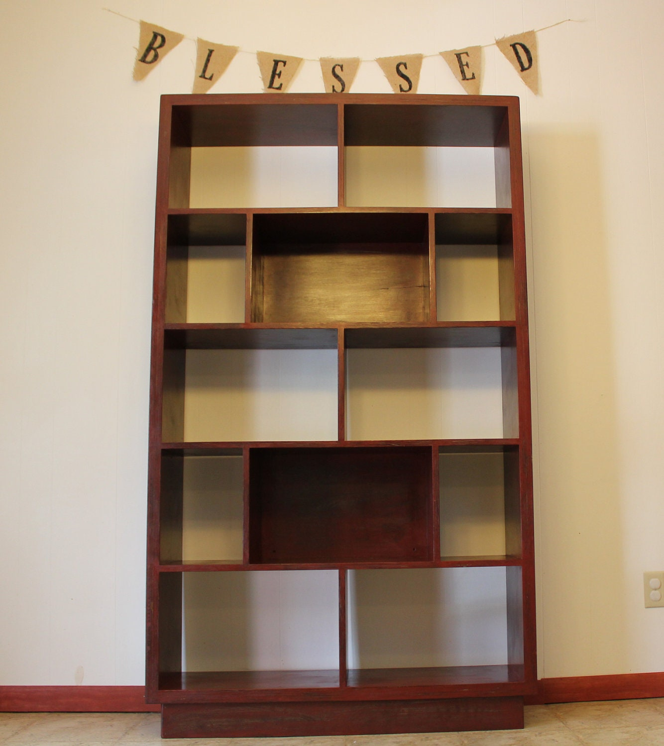 #693C2B Bookcase/Bookshelf Red Distressed Wood By YodersWoodedLot On Etsy with 1334x1500 px of Most Effective Black Bookcase Wood 15001334 wallpaper @ avoidforclosure.info