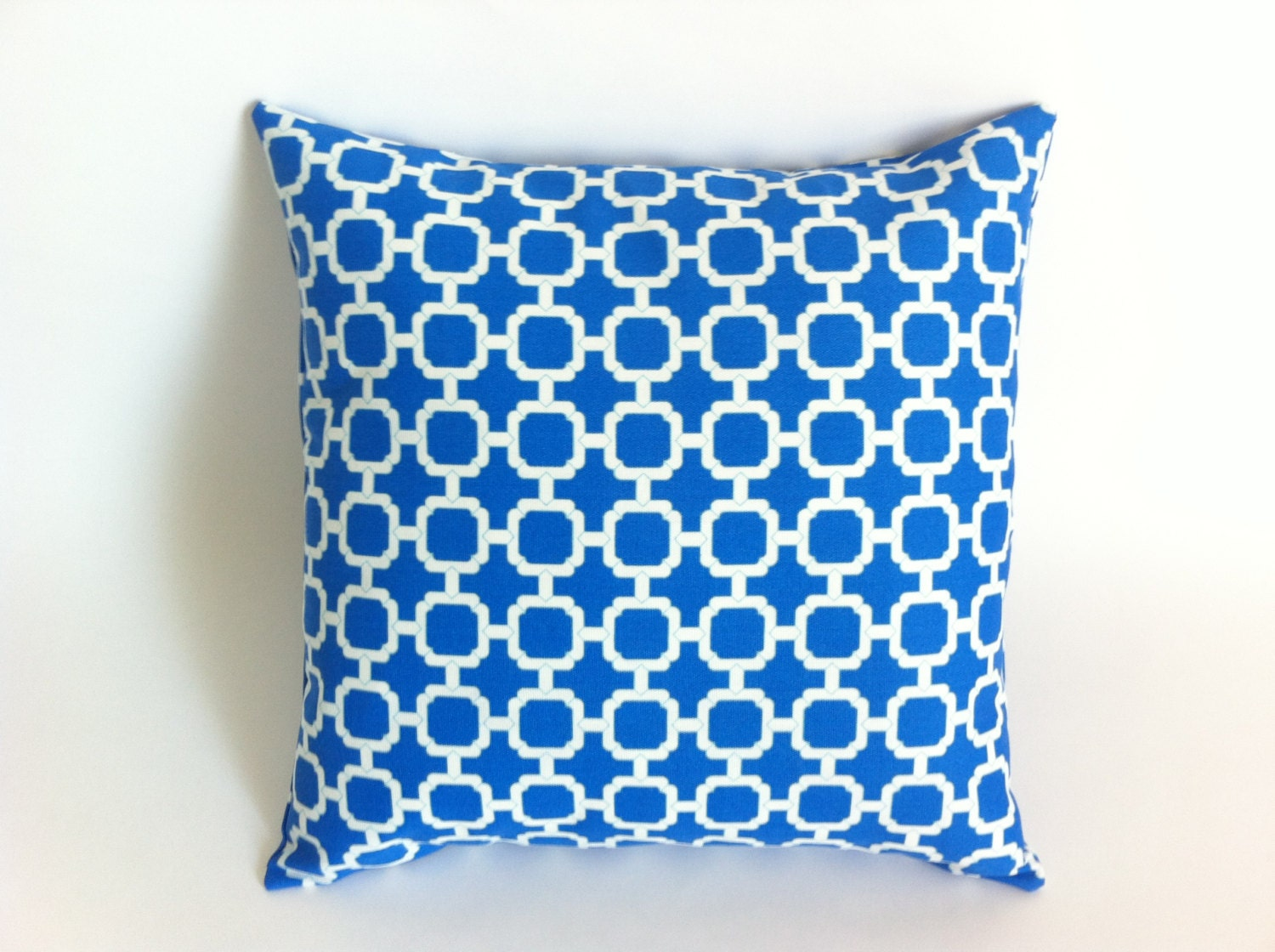 Bright Cobalt Blue Pillow Decorative Throw Pillow by Pillomatic
