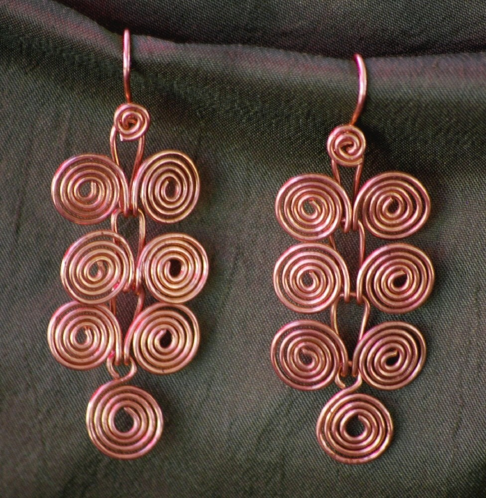 TUTORIAL-Egyptian Coils Dangle Earrings