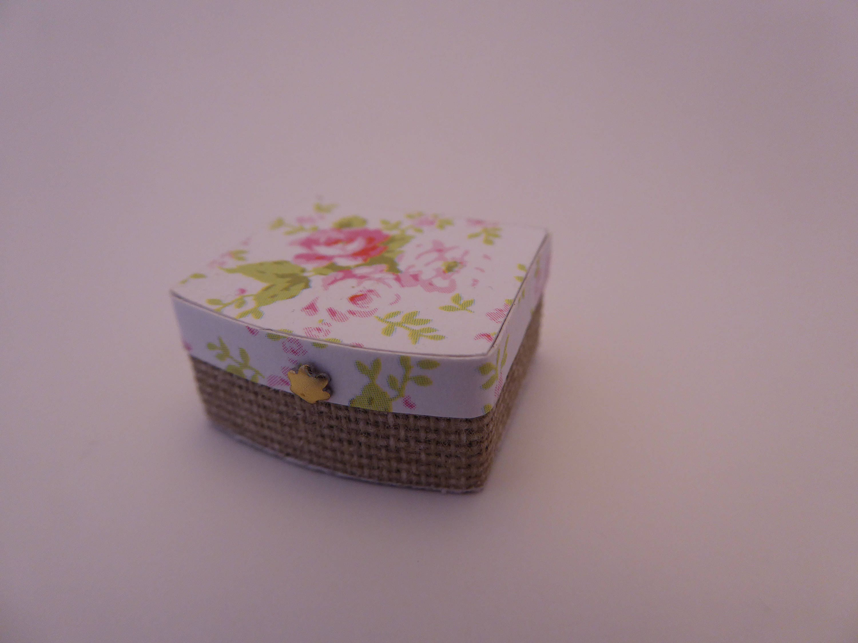 Beautiful handmade miniature jewellery box for the modern 112th scale dolls house  wickerfloral  shabby chic accessory