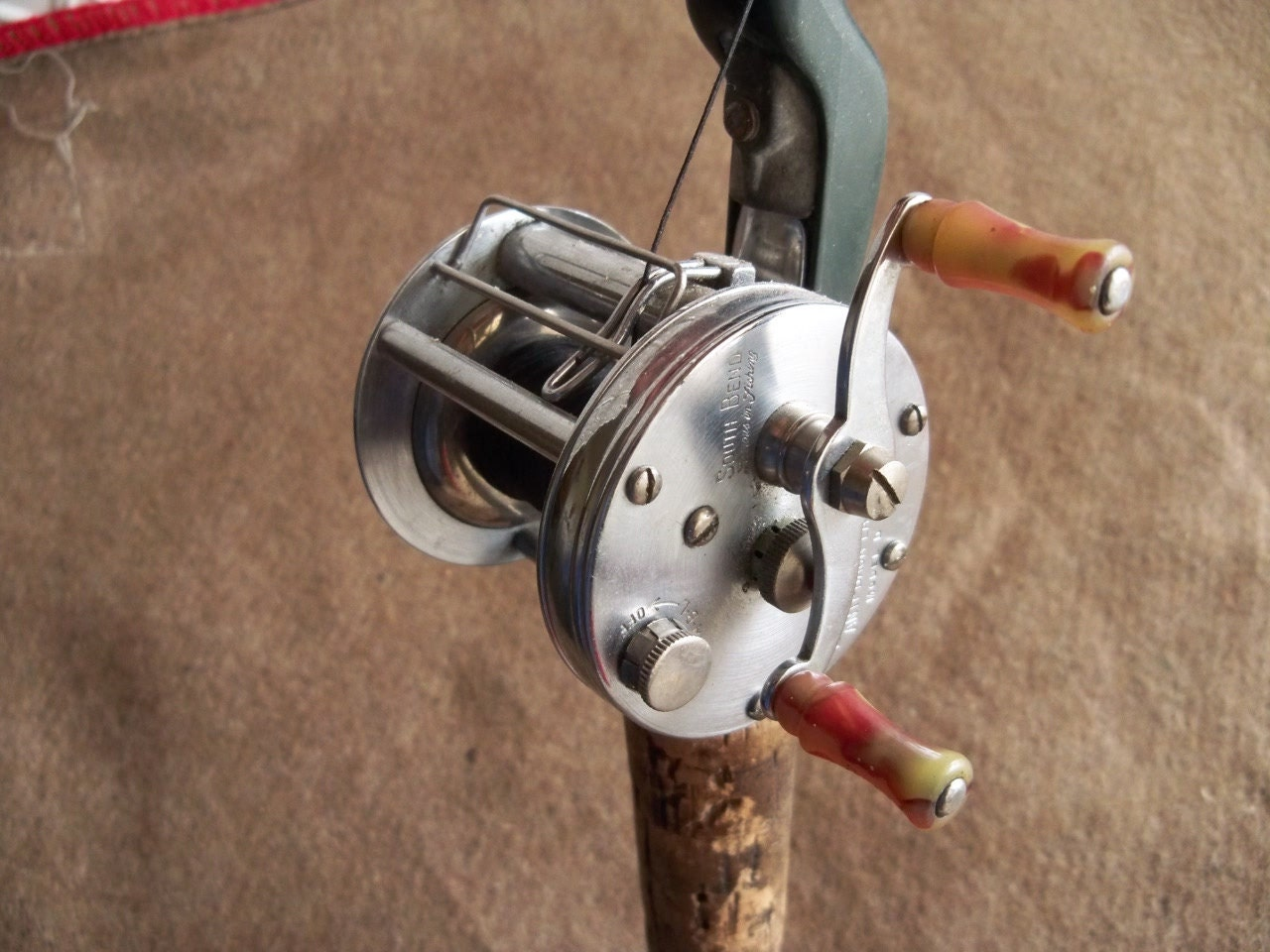 Unavailable listing on etsy for South bend fishing reel
