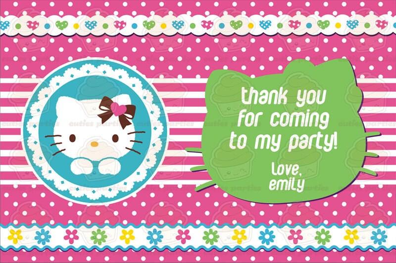 Hello Kitty Printable Birthday Party KitCuties Parties