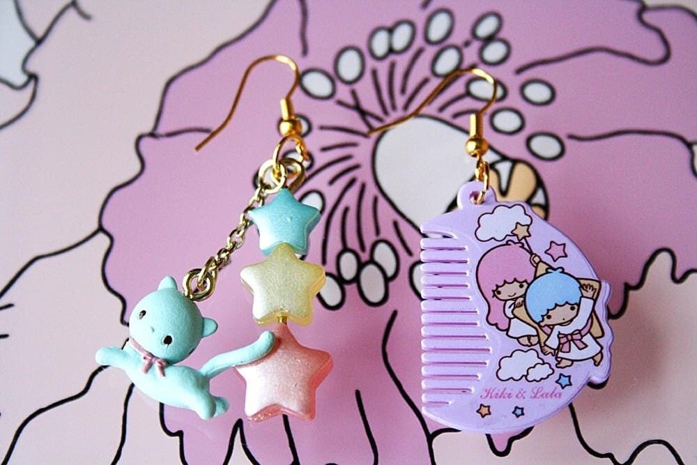 Little twins stars earrings